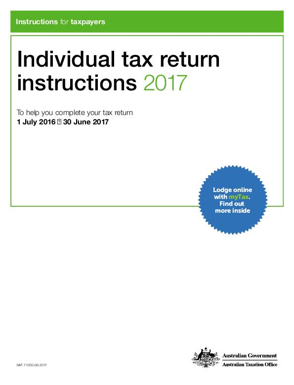 Thumbnail for preview of Individual tax return instructions 2017 (formerly TaxPack NAT 0976) form