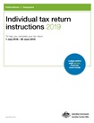 Thumbnail for preview of Individual tax return instructions 2019 (formerly TaxPack NAT 0976) form