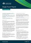 Thumbnail for preview of Single touch payroll factsheet for small employers form