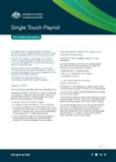 Thumbnail for preview of Single touch payroll factsheet for closely held payers form