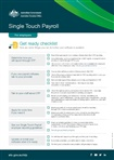 Thumbnail for preview of Single touch payroll get ready checklist for employers form