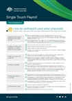 Thumbnail for preview of Single touch payroll get ready checklist for employers (Spanish) form