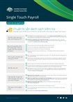 Thumbnail for preview of Single touch payroll get ready checklist for employers (Vietnamese) form