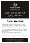 Thumbnail for preview of Scam flyer A5 form