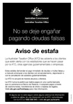 Thumbnail for preview of Scam flyer A5 Spanish form