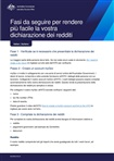 Thumbnail for preview of Steps to make doing your tax return easier (Italian) form